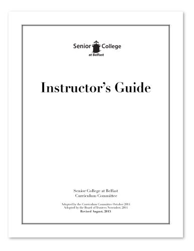 SCB Instructor's Manual