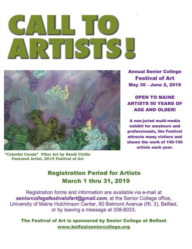 17th Annual Festival Of Art Call For Artists - Senior